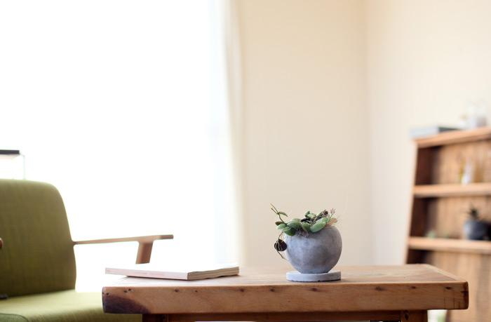 陶器鉢 グレー