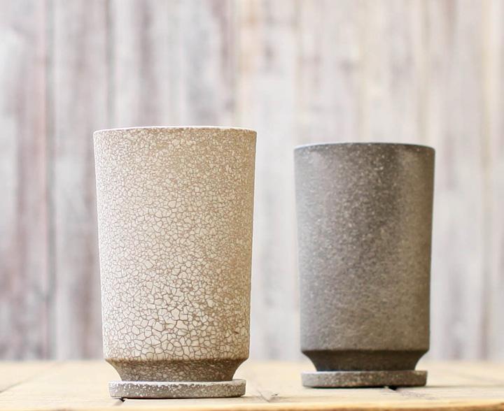 石の質感 植木鉢