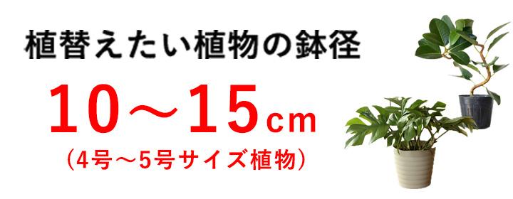 4号~5号サイズの植物向け